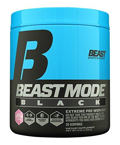 Beast Sports Nutrition, (Old Formula) Beast Mode Black, Pink Lemonade, 30 Servings