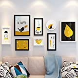 ALUS- 8 Multi Photo Frames Set Nordic Style Wooden Home Wall Pendant Creative Girl Bedroom Wall Background Photo Wall