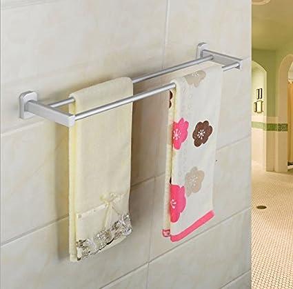 El doble de toallas, aluminio colgando en el espacio, toallero,70cm de largo