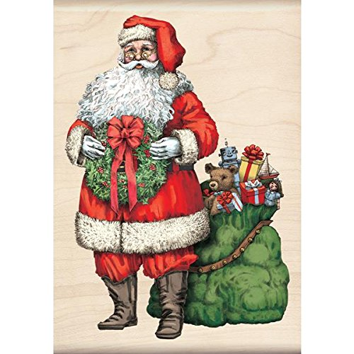 Inkadinkado Wood Stamp, Santa