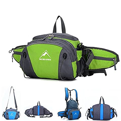 Hiking Waist Pack, MALEDEN Outdoor Water Resistant Lumbar Pack Bag with Water Bottle Holder and Shoulder Backpack for Camping Cycling Hunting and Travel Fanny Pack for Women - Lumbar Pack