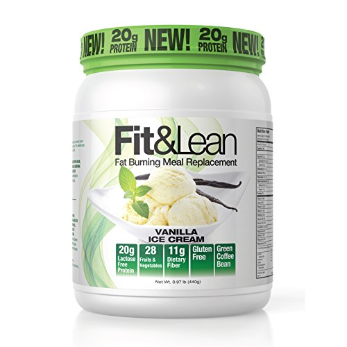 Vanilla Meal - Fit & Lean Fat Burning Meal Replacement, Vanilla, 0.97 Pound
