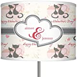 RNK Shops Cats in Love 13'' Drum Lamp Shade Linen (Personalized)