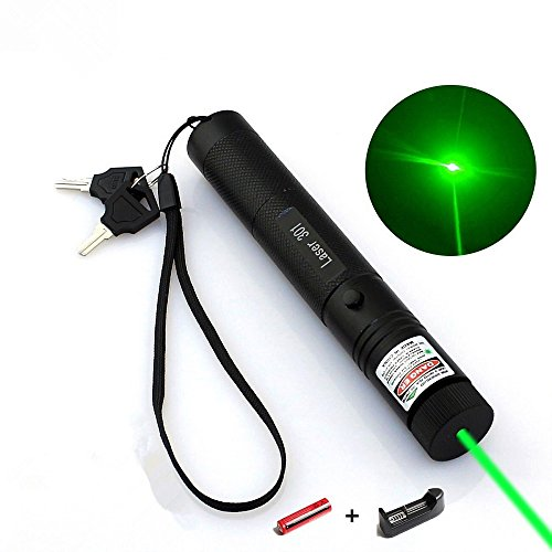 (Tactical Green Hunting Rifle Scope Sight Laser Pen, Demo Remote Pen Pointer Projector Travel Outdoor Flashlight, LED Interactive Baton Funny Laser Toy)