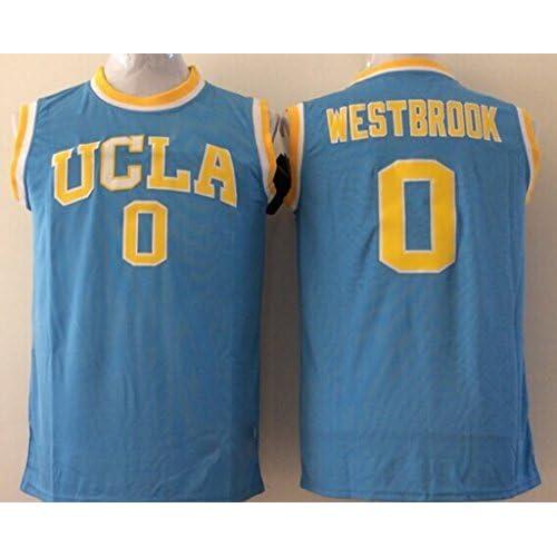 buy popular 5f632 176a5 hot sale Men's UCLA Bruins NO.0 Westbrook Blue NCAA ...