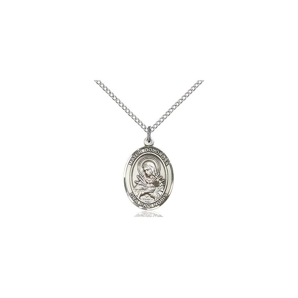 DiamondJewelryNY Sterling Silver Mater Dolorosa Pendant
