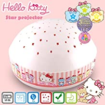 "Hello Kitty ""Touch Active, Easy Clean"" Twilight Constellation Galaxy Round Projector Night Light by Lumitusi (Hello Kitty)"