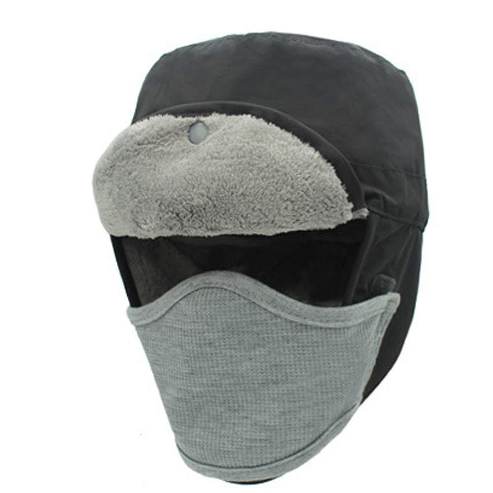 c5ac0ed3677 Mens Womens Winter Ski Hats Warm Trapper Aviator Trooper Mask Cap at Amazon  Men s Clothing store