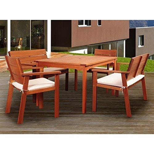 Test Set Sc Pc - Amazonia Nelson 5-Pc Dining Set with Cushion