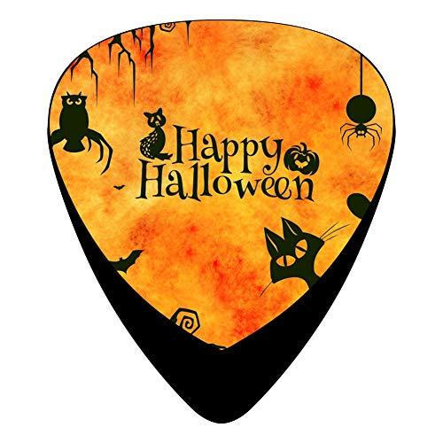 (Happy Halloween Animals Guitar Picks Plectrums 12-Packs Music Design Celluloid 3 Sizes Thin Medium)