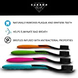 (4 Pack) Charcoal Whitening Toothbrush, Ultra