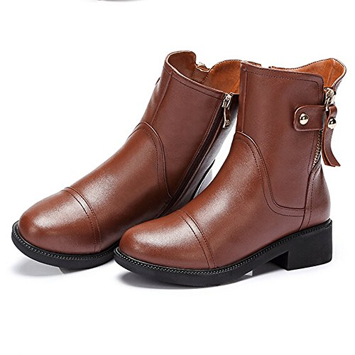 CAMEL Womens Mid Heel Ankle Boots Color Brown Size 36 M EU 4YK9N