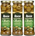 Reese Reese Manzanilla Olives stuffed w/ Minced Anchovy, Jars, 3 oz, 3 pk by Reese