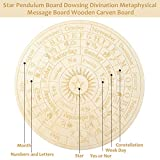 Star Pendulum Board Wooden Dowsing Board Divination