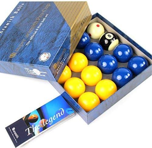 EXCLUSIVA! Super Aramith azul y amarillo PRO CUP 5,08 cm bolas de ...
