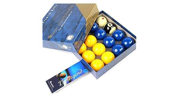 EXCLUSIVA! Super Aramith azul y amarillo PRO CUP 5,08 cm bolas de billar: Amazon.es: Deportes y aire libre