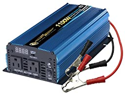 Power Bright PW1100-12 Power Inverter 1100 Watt 12 Volt DC To 110 Volt AC