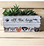 All the Dogs Custom Bin and Planter