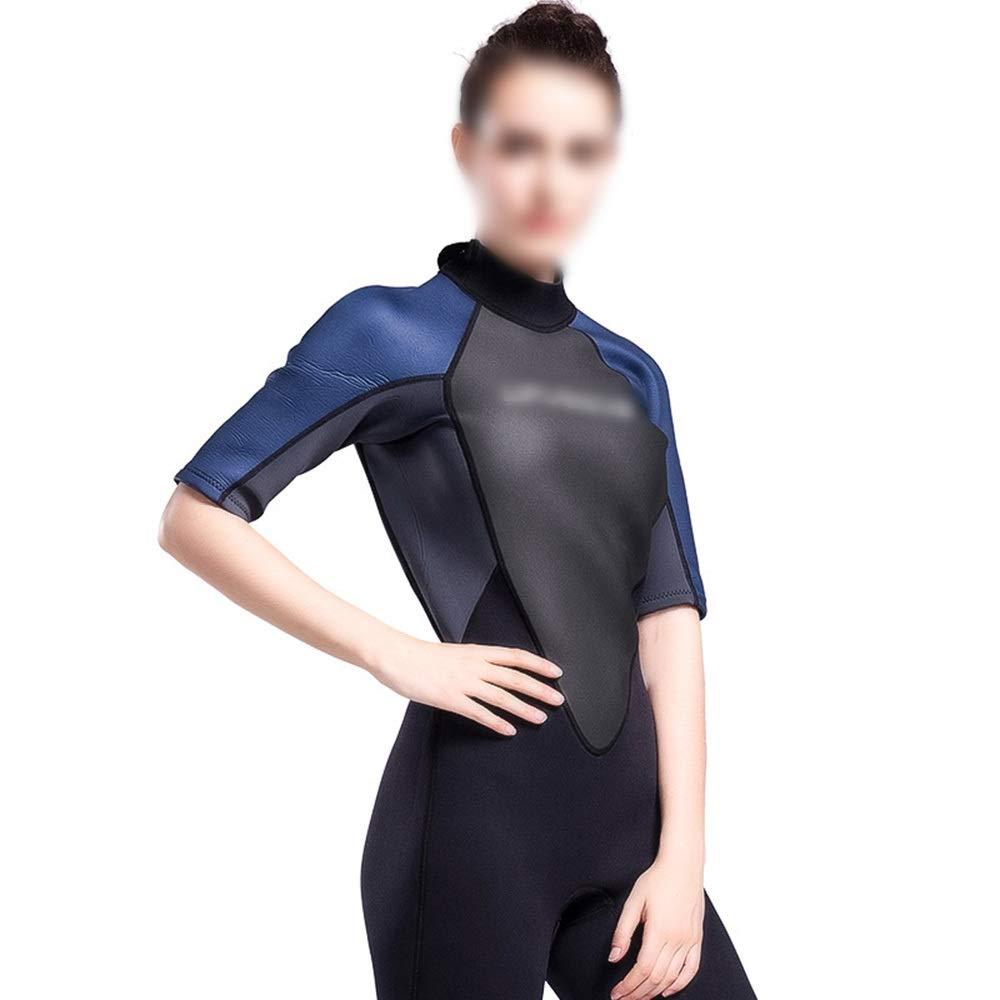 Bleu S JESSIEKERVIN YY3 Combinaison en Une pièce pour Femme Surf Windsurf VêteHommests de Surf Matériel de plongée avancé 3mm