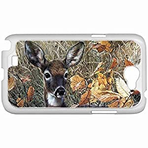 Custom Fashion Design Samsung Galaxy NOTE 2 SII Back Cover Case Personalized Customized Samsung Note 2 Diy Gifts In Beautiful fawn White