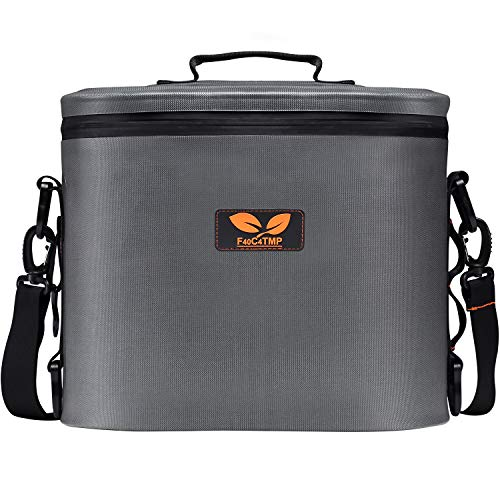 F40C4TMP 11 Cans Soft Cooler, Waterproof Insulated Ice Chest with Adjustable Shoulder Strap, Portable Soft Pack cool Box with Bottle Opener, 3-Day Ice Retention for Family Camping, Picnic, Beach Trips ()