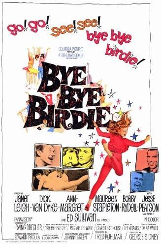 Amazon.com: Bye Bye Birdie Movie Poster (27 x 40 Inches - 69cm x 102cm) ( 1963) -(Dick Van Dyke)(Janet Leigh)(Ann-Margret)(Paul Lynde)(Bobby  Rydell)(Maureen Stapleton): Prints: Posters & Prints