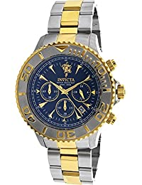 Invicta Men's Sea Base Gold-Tone Steel Bracelet & Case Quartz Black Dial Analog Watch 23881