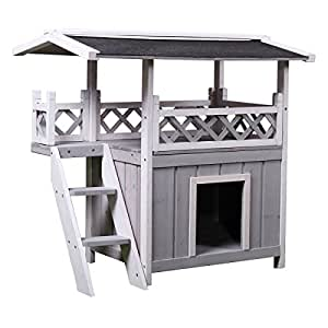 Amazon.com : Tobbi Dog House Outdoor Shelter Roof Cat