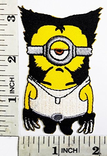 Funny Minions x-men Wolverine cartoon kid patch Symbol Jacket T-shirt Patch Sew Iron on Embroidered Sign Badge (Xmen Fancy Dress)