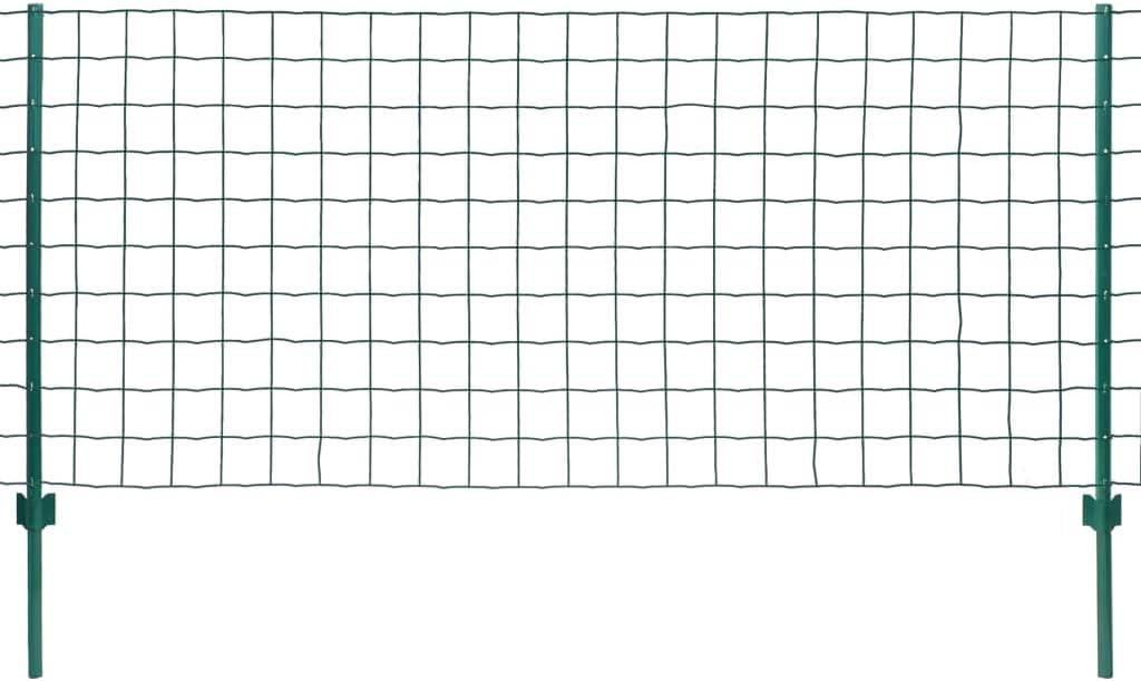 Tidyard Z/äune Metallzaun Set Stahl Gartenzaun mit Pfosten Dekorative Zaun Zaunanlage Maschendrahtzaun 20 x 1 m Maschenweite 100 x 100 mm Gr/ün