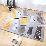 QIAO Rug Bathroom Mats Bathroom Door Mats Water Absorption Dustproof Living Room Bedroom Kitchen Carpet Easy to Clean (Color : A, Size : 45x120cm(17.71''x47.24''))