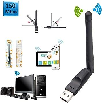hudiemm0B USB Wireless LAN Adapter 150Mbps High Speed USB 2.0//1.1 WiFi Wireless LAN Adapter Long Range 2dBi Antenna
