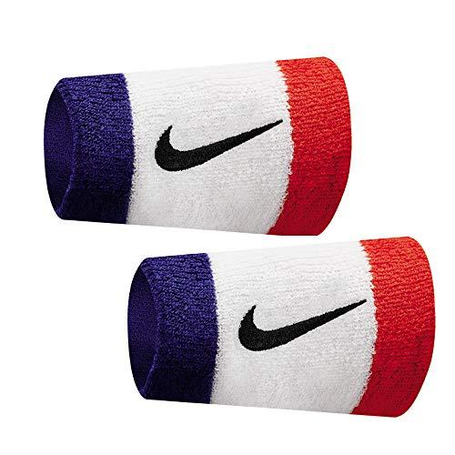Nike Double Wide Wristbands - Nike Swoosh DOUBLEWIDE Wristbands OSFM Habanero RED/Black