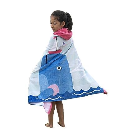 Kuuboo Ponchos con capucha para niños, toalla de baño de playa, 100% algodón