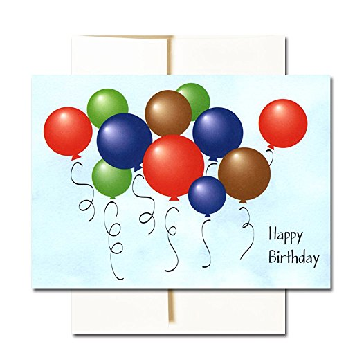 Happy Birthday Cards  Assortment - Box of 30 Blank Note Cards - 6 Colorful Designs - and 32 Envelopes Photo #2