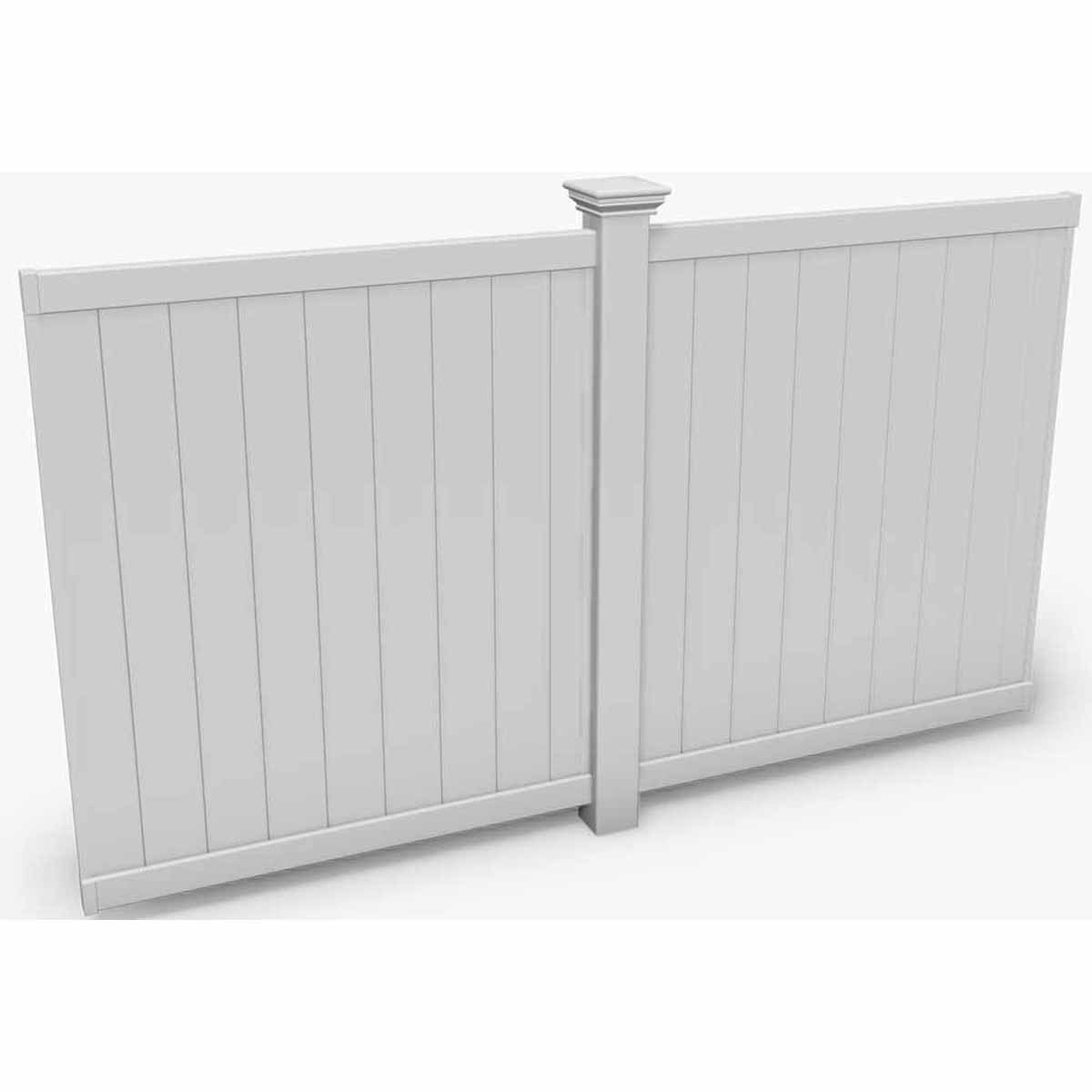 New England Arbors Flat Privacy Wall, 10', White