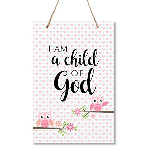 "LifeSong Milestones Owl Child of God Wall Decor Decorations Signs for Kids, Bedroom, Nursery, Hallways, Baby's Boys and Girls Room, Toddlers Size 8"" x 12"" Proudly Made in USA"