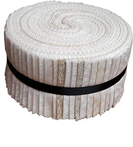 - Best of Tone on Tone Neutral Blenders Jelly Roll 40 Precut 2.5-inch Quilting Fabric Strips