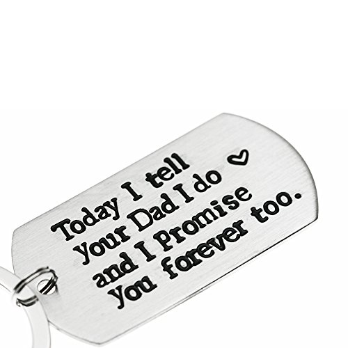 Ms. Clover Blended Family Stepson Stepdaughter Wedding Gift, Bride's Son Groom's Son Marriage Keychain by Ms. Clover (Image #4)