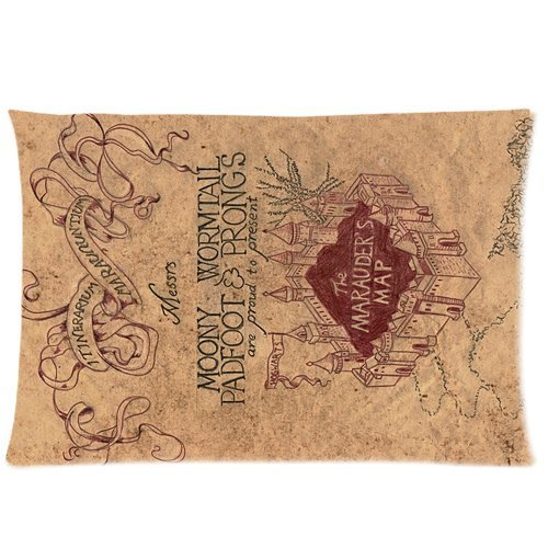 Custom Harry Potter Marauders Map Pattern Rectangular Pillow Case 16x24 Inches Creative Personalized Pillowcase Bedding Pillow Slips