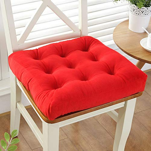 Thickening Solid Color Square Seat Cushions Office/Dining Chair Pad Tatami Floor Pillows by vnhome