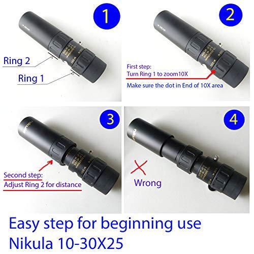 Nikula Power 10-30x25 Zoom Optical Telescope Monocular