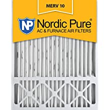 Nordic Pure 20x25x5 (4-3/8 Actual Depth) MERV 10 Honeywell Replacement Pleated AC Furnace Air Filter, Box of 1