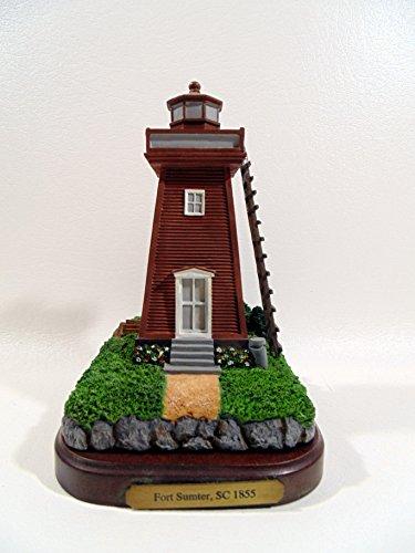 "Geo. Z. Lefton Lighthouse and Wooden Base ""Fort Sumter"" CCM 13552 (2000)"