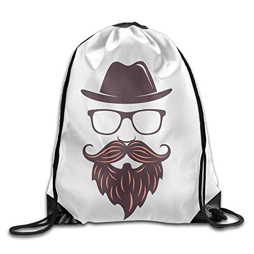 Bekey Hat,glass Frame And Beard Drawstring Backpack Sport Bag For Men & Women For Home Travel Storage Use Gym Traveling Shopping Sport Yoga (Female X Men Characters)