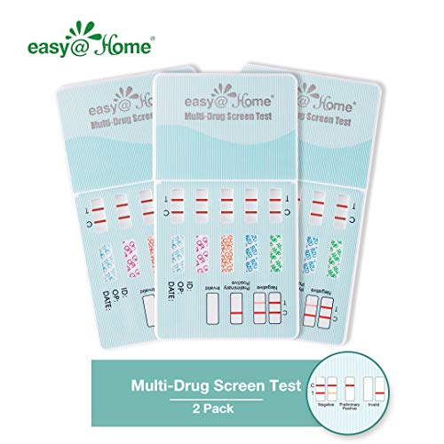 2 Pack Easy@Home 5 Panel Instant Drug Test Kits - Testing Marijuana (THC), COC, OPI 2000, AMP, MET/mAMP- Urine Dip Drug Testing - #EDOAP-254 (Coke Test)