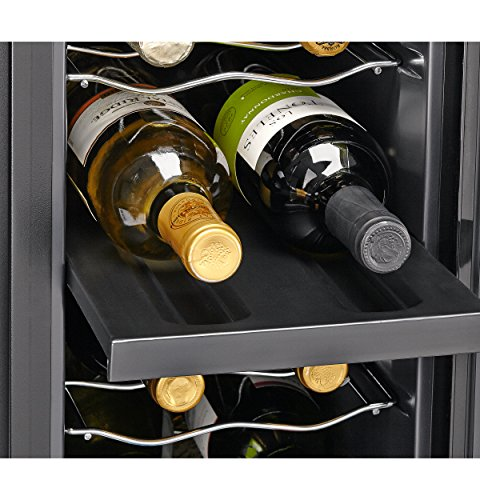 Haier 18 Bottle Dual Zone Curved Door With Smoked Glass