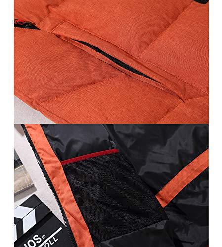 Cerniera Alto Intera Impermeabile Caldo Arancione Ruiyuns Collo Giù Rivestimento Mens Superiore Estremo Tempo Ricopre Parka Protettore 855xBzqwv