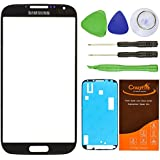 CrazyFire® Black Front Outer Glass Lens Screen Replacement For Samsung Galaxy S4 SIV I9500 L720 I545 I337 M919 R970+Tools Kit+Adhesive Tape