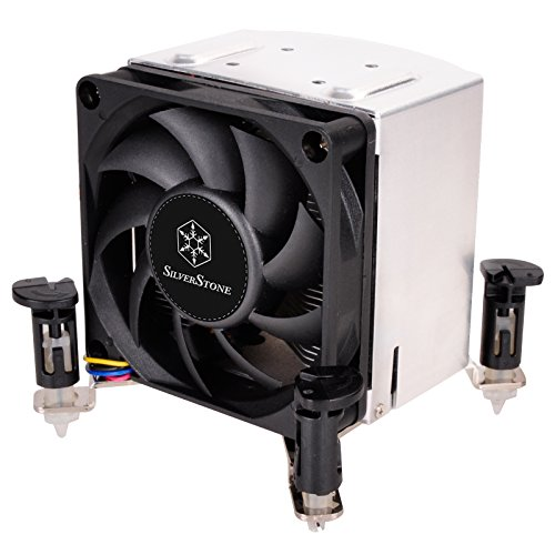SilverStone Technology AR10-115XP 3U Rackmount Server/Small Form Factor Intel CPU Cooler with Push Pin Design